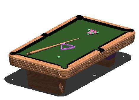 Planos de Mesa pool, en Juegos – Muebles equipamiento