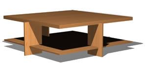 imagen Mesa ratona - lewis coffe table- 1939  frank lloyd wright, en Mesas y juegos de comedor 3d - Muebles equipamiento