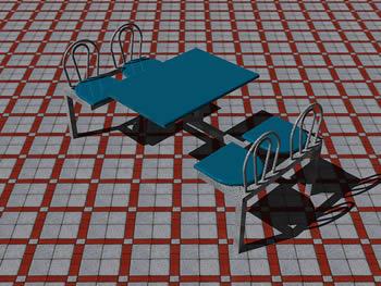 Planos de Mesa restaurante 3d, en Bares y restaurants – Muebles equipamiento