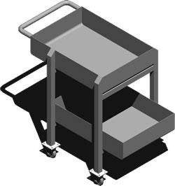 Planos de Mesa rodante 3d, en Muebles varios – Muebles equipamiento