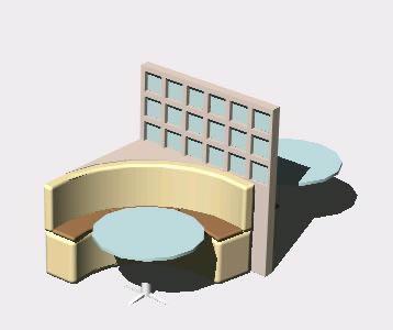 Planos de Mesa; sillas y mampara divisoria para bar, en Bares y restaurants – Muebles equipamiento