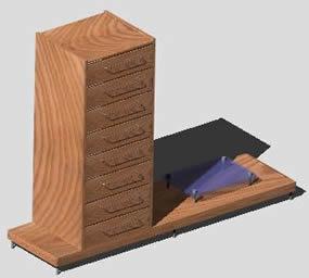 Planos de Mesa tv 3d, en Dormitorios – Muebles equipamiento