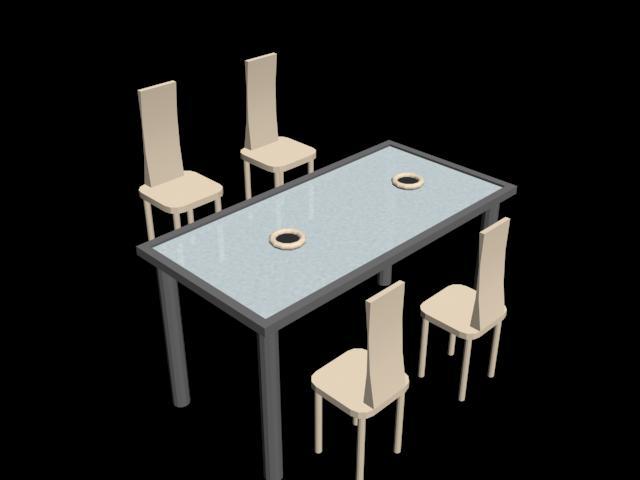 imagen Mesa y silla salón en 3d, en Mesas y juegos de comedor 3d - Muebles equipamiento
