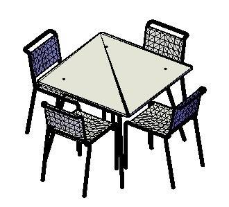 imagen Mesa y sillas, en Mesas y juegos de comedor 3d - Muebles equipamiento