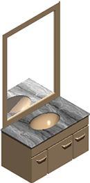 Planos de Mesada, en Baños – Muebles equipamiento