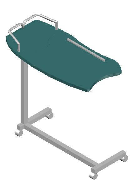 imagen Mesita corrediza  3d, en Equipamiento - Hospitales