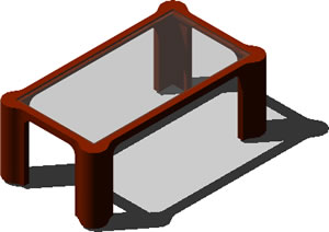 imagen Mesita de centro 3d, en Mesas y juegos de comedor 3d - Muebles equipamiento