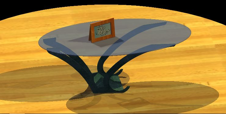 imagen Mesita oval foto 3d, en Mesas y juegos de comedor 3d - Muebles equipamiento