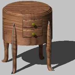 Planos de Mesita redonda, en Mesas y juegos de comedor 3d – Muebles equipamiento
