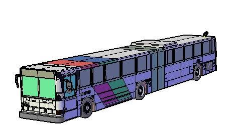 imagen Metro articulado en 3d, en Autobuses - Medios de transporte