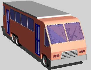 imagen Microbus 3d, en Autobuses - Medios de transporte