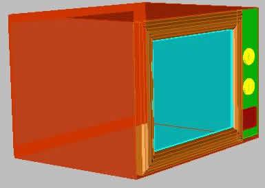 Planos de Microondas 3d, en Electrodomésticos – Muebles equipamiento
