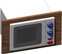 Planos de Microondas fagor de 17 litros con marco 3d, en Electrodomésticos – Muebles equipamiento