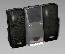 Minicomponente 3d, en Salas de estar y tv – Muebles equipamiento