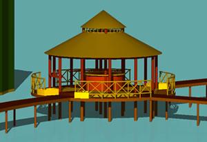 Planos de Mirador de mar, en Muelles y embarcaderos – Proyectos