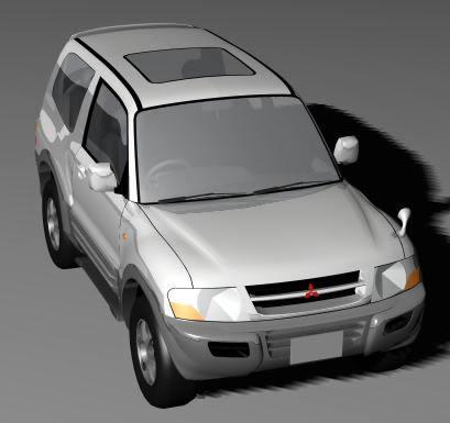 Mitsubishi pajero 99 3d -, en Automóviles en 3d – Medios de transporte