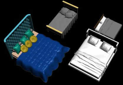imagen Mobilairio camas 3d, en Dormitorios - Muebles equipamiento