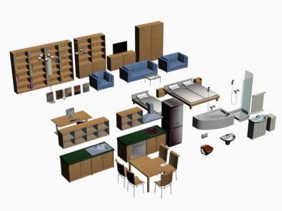 Mobiliario 3d, en Muebles varios – Muebles equipamiento