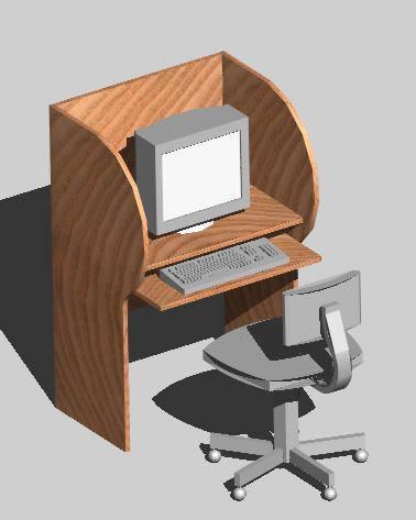 Planos de Mobiliario de computacion, en Escritorios – Muebles equipamiento