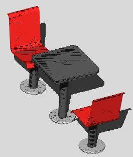 imagen Mobiliario: modulo doble sillas y mesa - p/estaciones de servicios  - 3d, en Bares y restaurants - Muebles equipamiento
