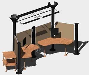 Planos de Mobiliario oficina 3d, en Oficinas y laboratorios – Muebles equipamiento