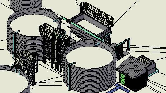 imagen Modelacion planta de tratamiento, en Industria minera - Máquinas instalaciones
