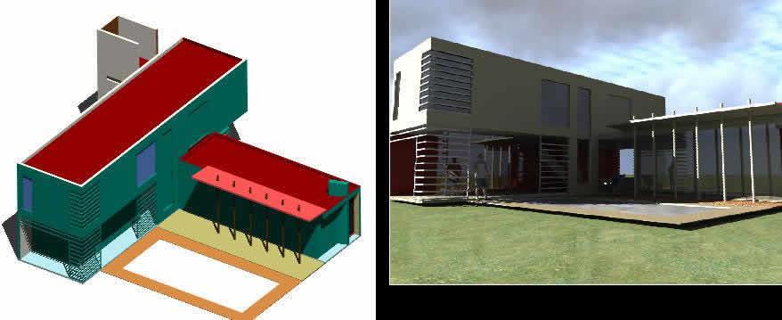imagen Modelo 3d casa nox, en Vivienda unifamiliar 3d - Proyectos