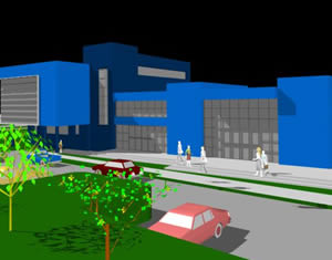 Planos de Modelo 3d clinica medica rancagua chile, en Proyectos – Hospitales