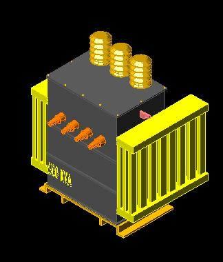 Planos de Modelo 3d transformador trifásico 500 kva, en Electricidad – Instalaciones