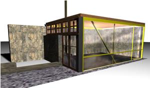 Modelo cabaña, en Vivienda unifamiliar 3d – Proyectos