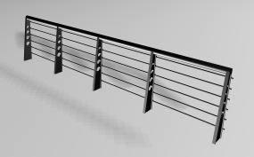 Planos de Modelo de baranda metalíca, en Barandas – Escaleras