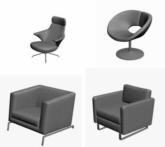 Modelos de sillas 3d, en Sillas 3d – Muebles equipamiento