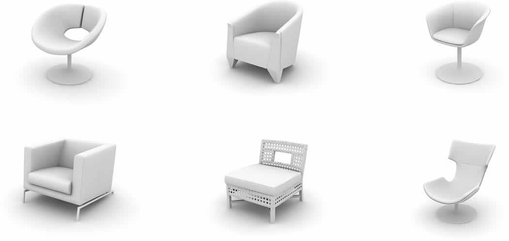 imagen Modelos de sillas 3d, en Sillas 3d - Muebles equipamiento