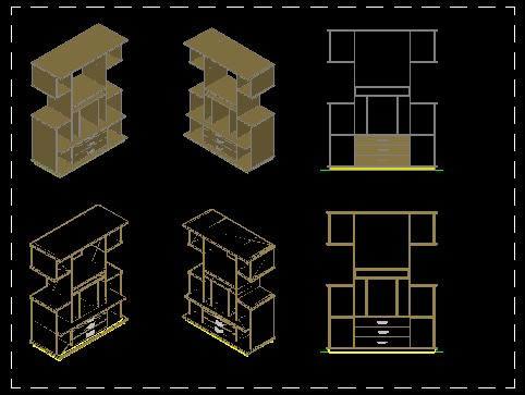 Planos de Modular – 3d, en Estanterías y modulares – Muebles equipamiento