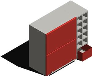 Planos de Modular 3d, en Estanterías y modulares – Muebles equipamiento
