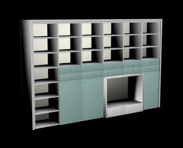 Modular biblioteca 3d para tv, en Estanterías y modulares – Muebles equipamiento