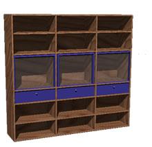 Planos de Modular con puertas vidriadas, en Estanterías y modulares – Muebles equipamiento