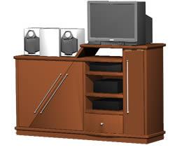 Planos de Modular  para t.v, en Estanterías y modulares – Muebles equipamiento