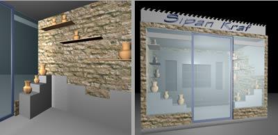 Módulo de venta de artesanias, en Comercios varios – Proyectos