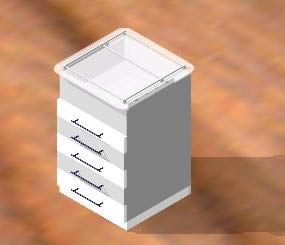 Planos de Modulo mueble dental 3d, en Equipamiento – Hospitales