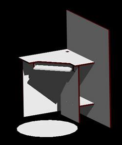 Planos de Modulo privado para cybercafe, en Cibercafés locutorios y telefónicas – Muebles equipamiento