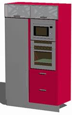 Planos de Modulo vertical de cocina, en Cocinas – Muebles equipamiento
