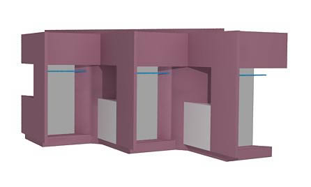 Modulos para ropa boutique 3d, en Muebles varios – Muebles equipamiento