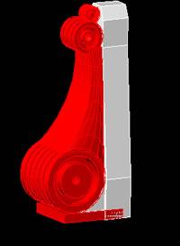 Planos de Moldura 3d, en Elementos decorativos – Historia