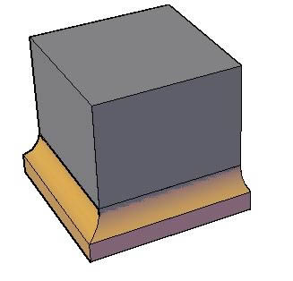 Planos de Moldura 3d. imposta, en Molduras de madera – Detalles constructivos