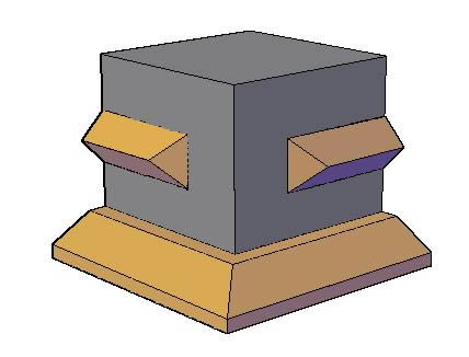 Planos de Molduras 3d. punta de diamante, en Molduras de madera – Detalles constructivos