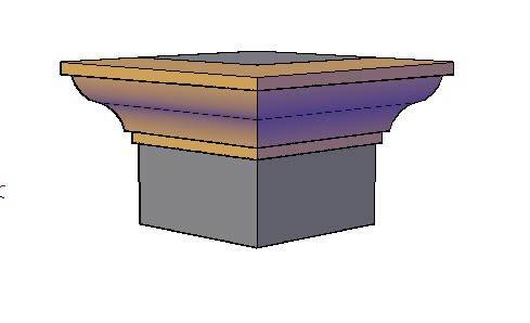 Planos de Molduras 3d . talon, en Molduras de madera – Detalles constructivos