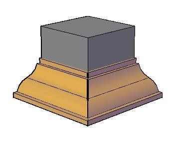 Planos de Molduras 3d. talon invertido, en Molduras de madera – Detalles constructivos