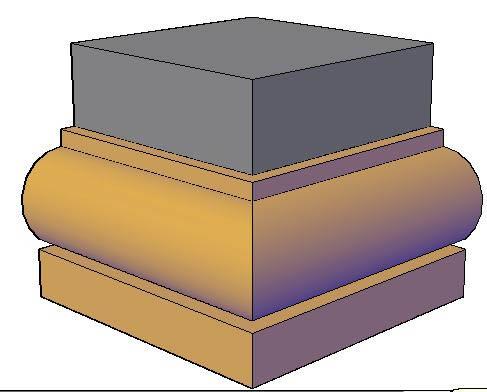 Planos de Molduras 3d. toro, en Molduras de madera – Detalles constructivos