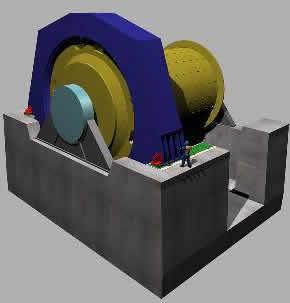 Molino de bolas sag, en Industria minera – Máquinas instalaciones